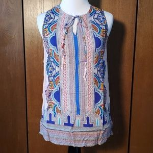 CYNTHIA ROWLEY SLEEVELESS BLOUSE SZ SMALL